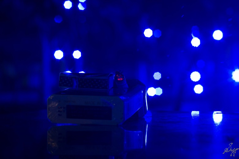 Blue lights bokeh!