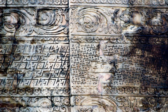 Carvings on the stupa