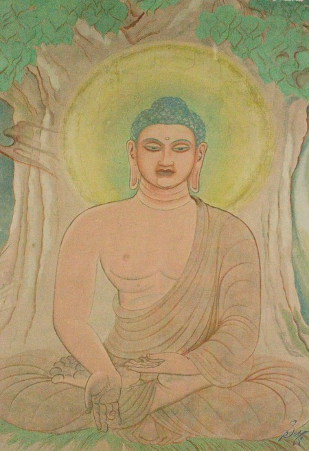 Buddha painting within the temple