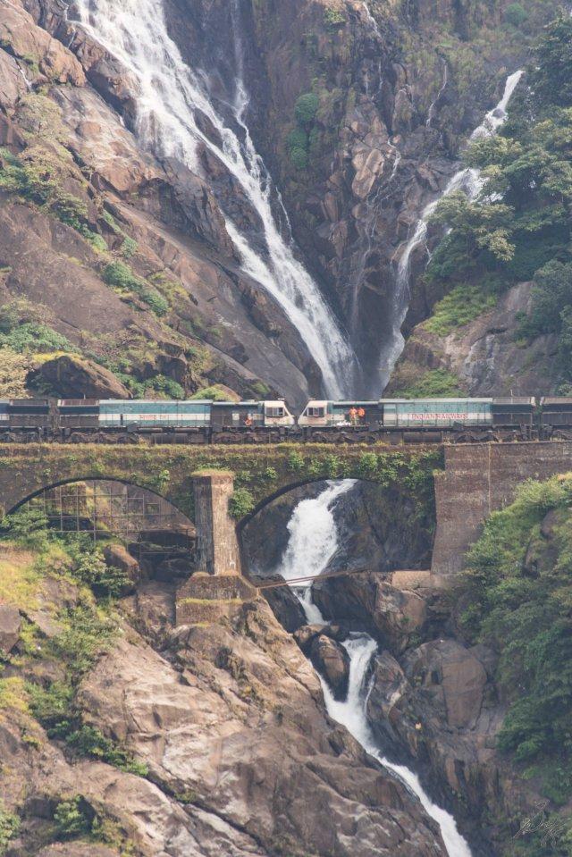 Optical zoom, trains, Dudhsagar