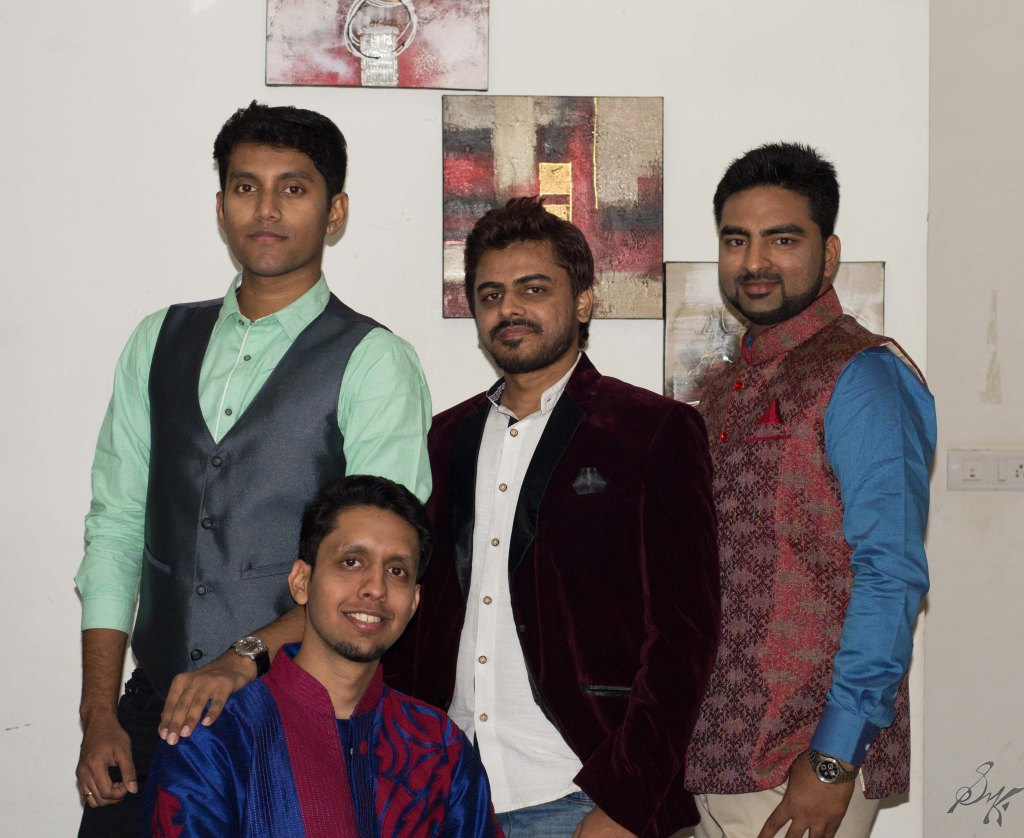 Boys all decked up