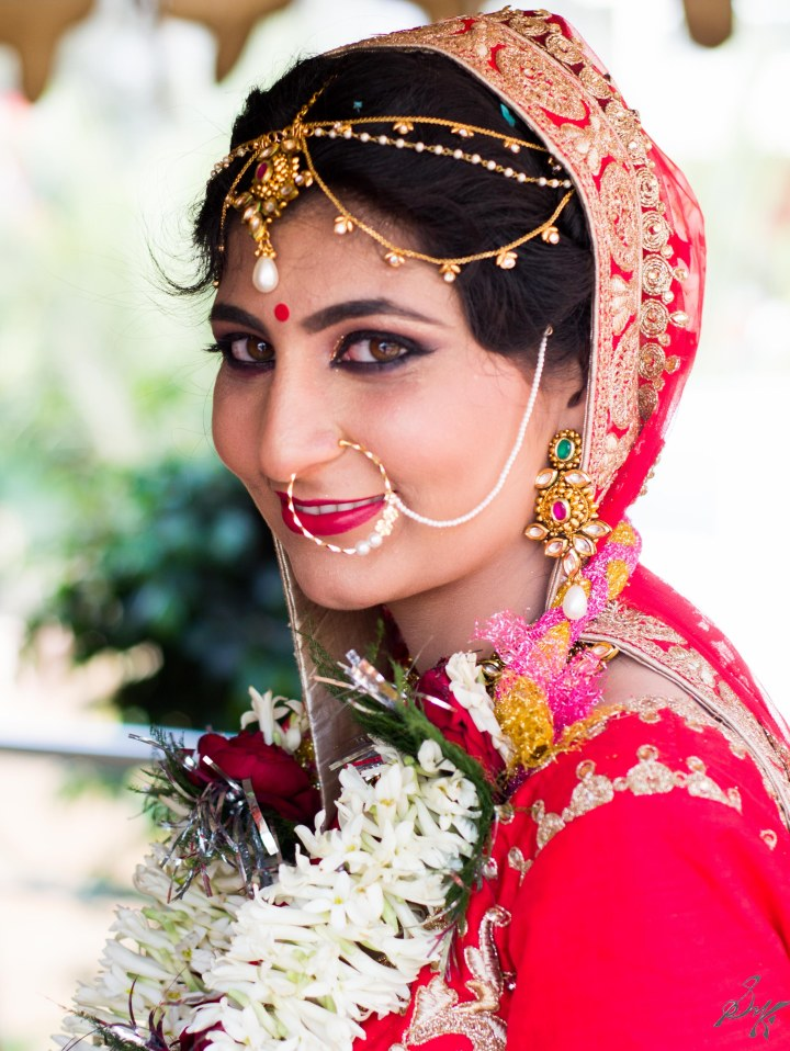 The bride in all beauty