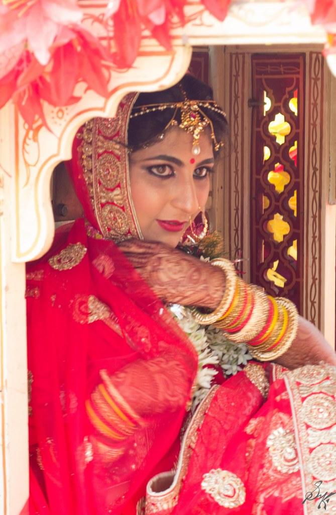 The bride in the doli