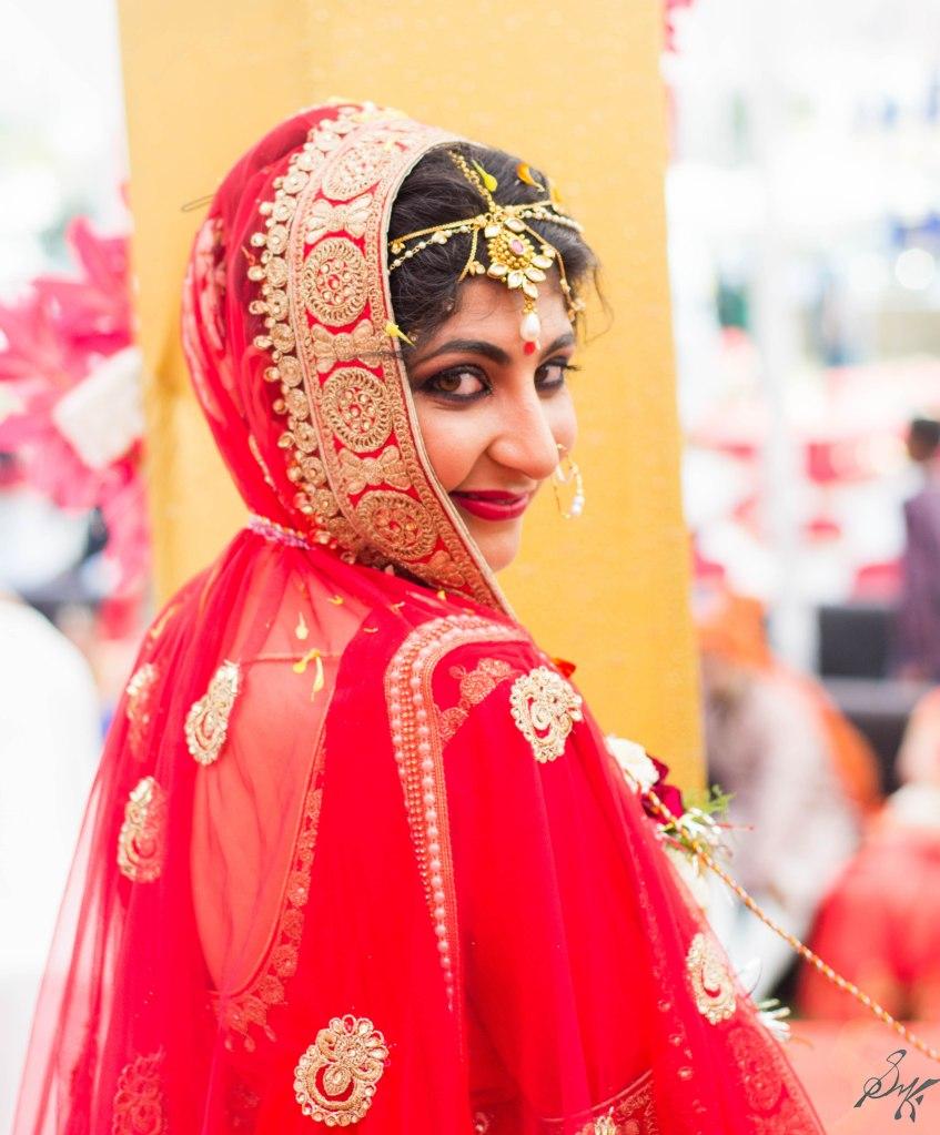 The pretty bride