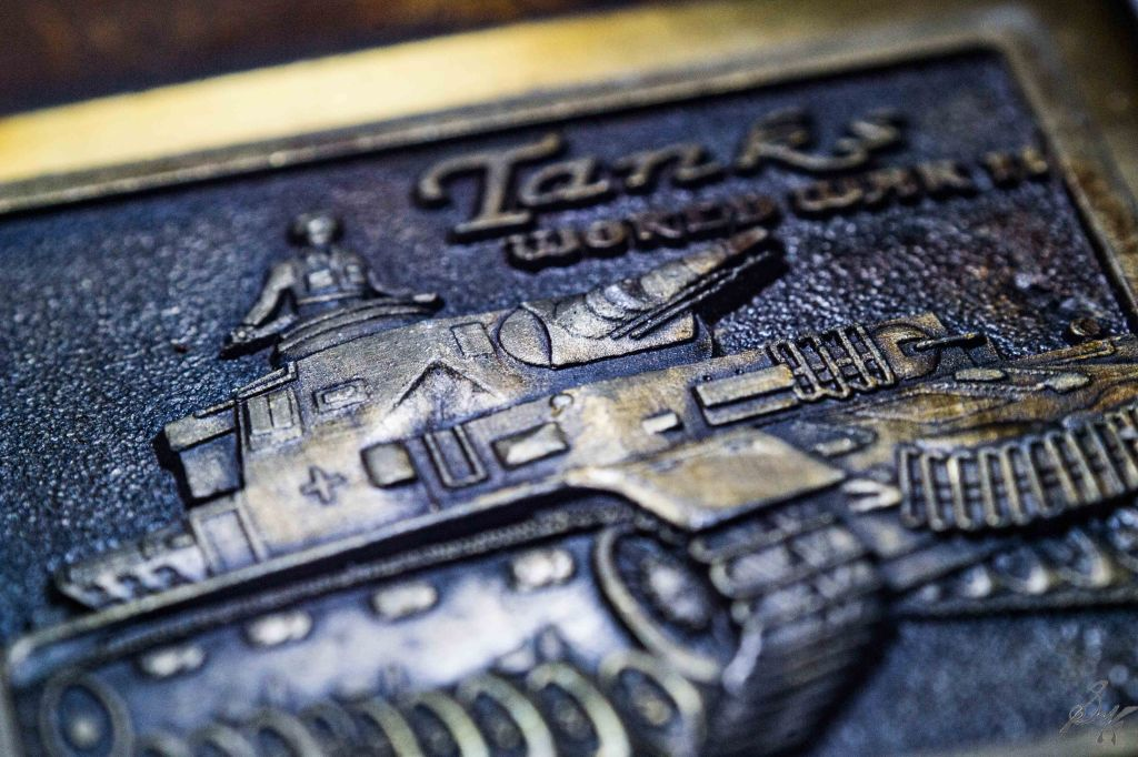 macro of tanks made on a zippo lighter