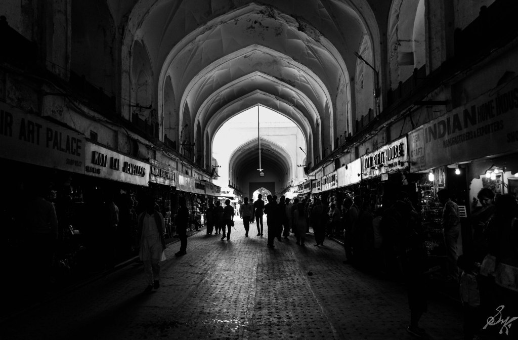 Shops in Chatta Chowk, Red Fort, India