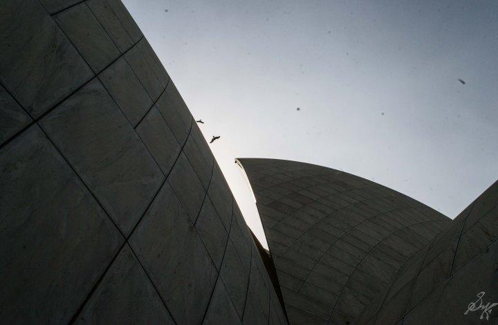 Arches of Lotus Temple, Delhi, India