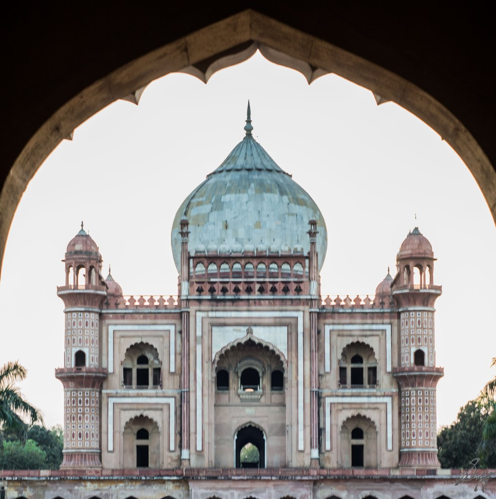 Safdarjung's Tomb view from the entrance arch, Delhi, India