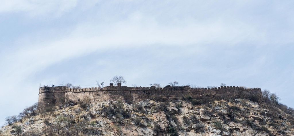 Distant view of the Bala Qilla, Alwar, Rajasthan