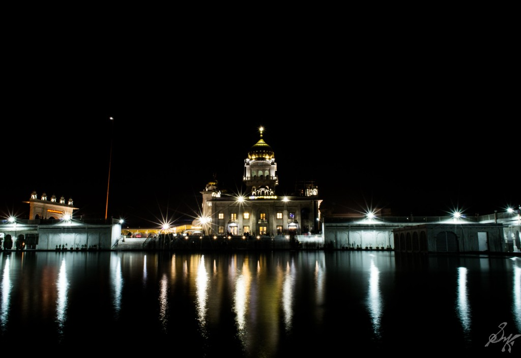 Bangla Sahib Gurdwara at Night, New Delhi, India