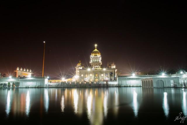 Long Exposure shot of Gurdwara Bangla Sahib, New Delhi, India