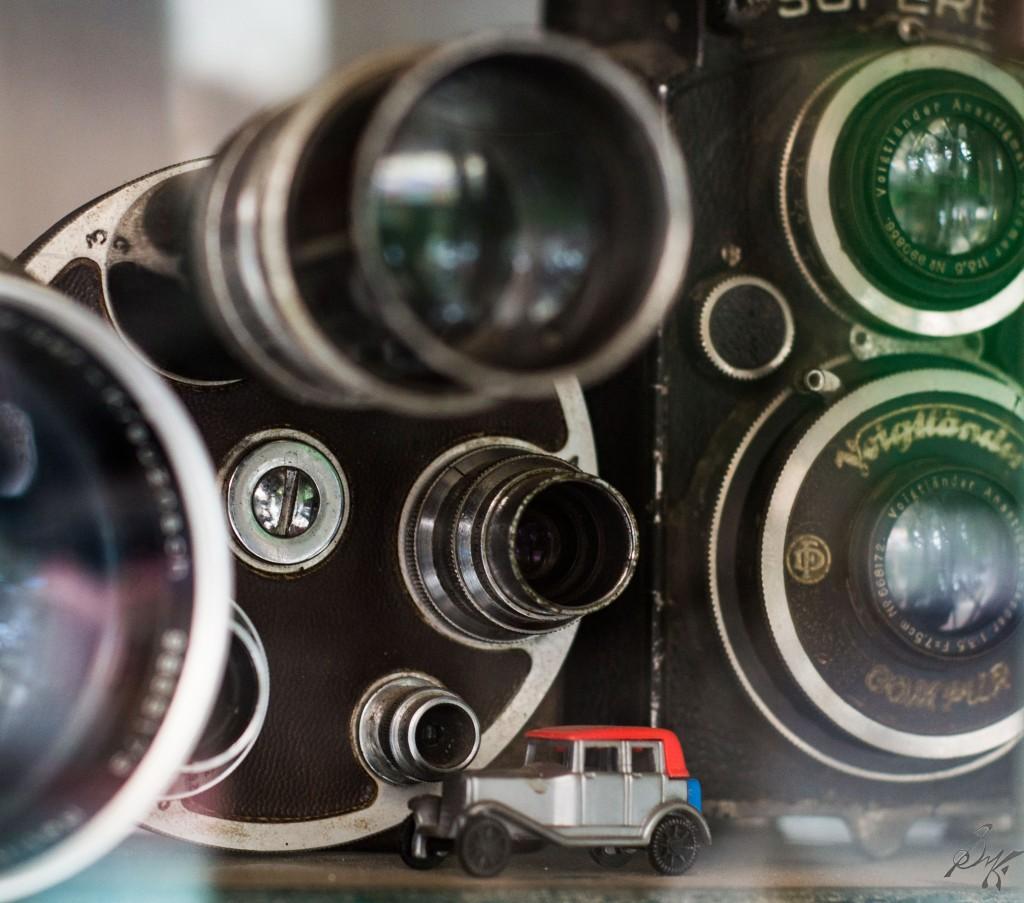 Old camera multiple lenses