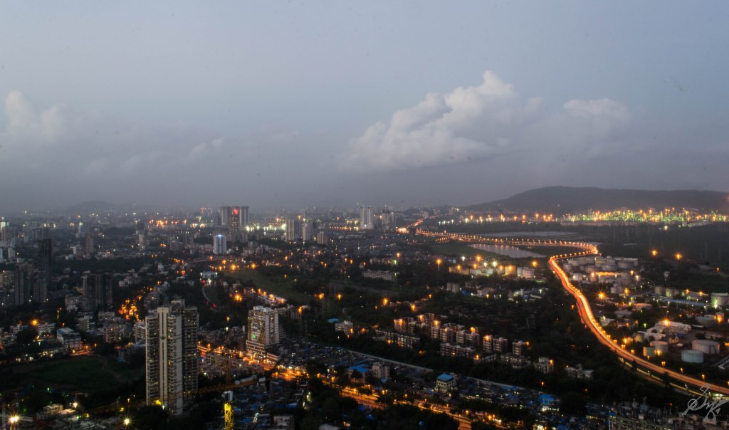 Long Exposure shot of Wadala and Freeway, Mumbai, India