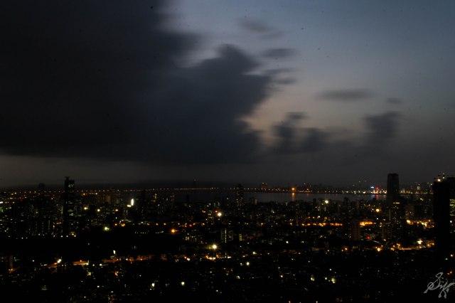 Bandra-Worli Sealink and nearby areas at night