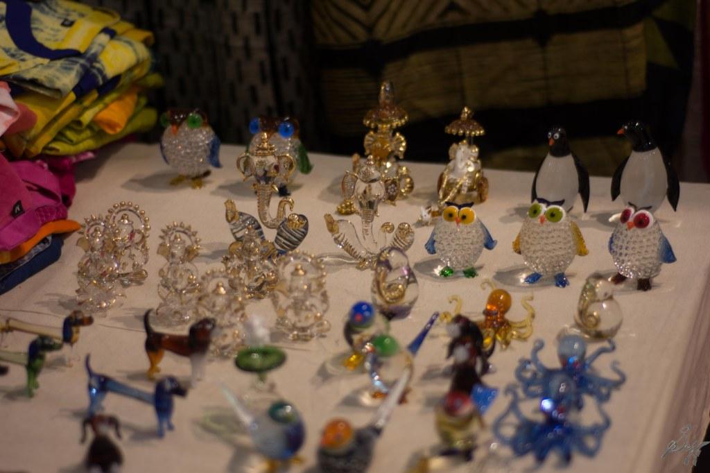 Knick knacks made of crystals