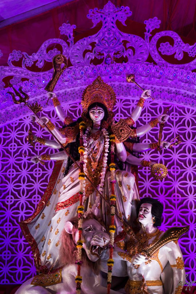 Idol of Durga vanquishing Asura