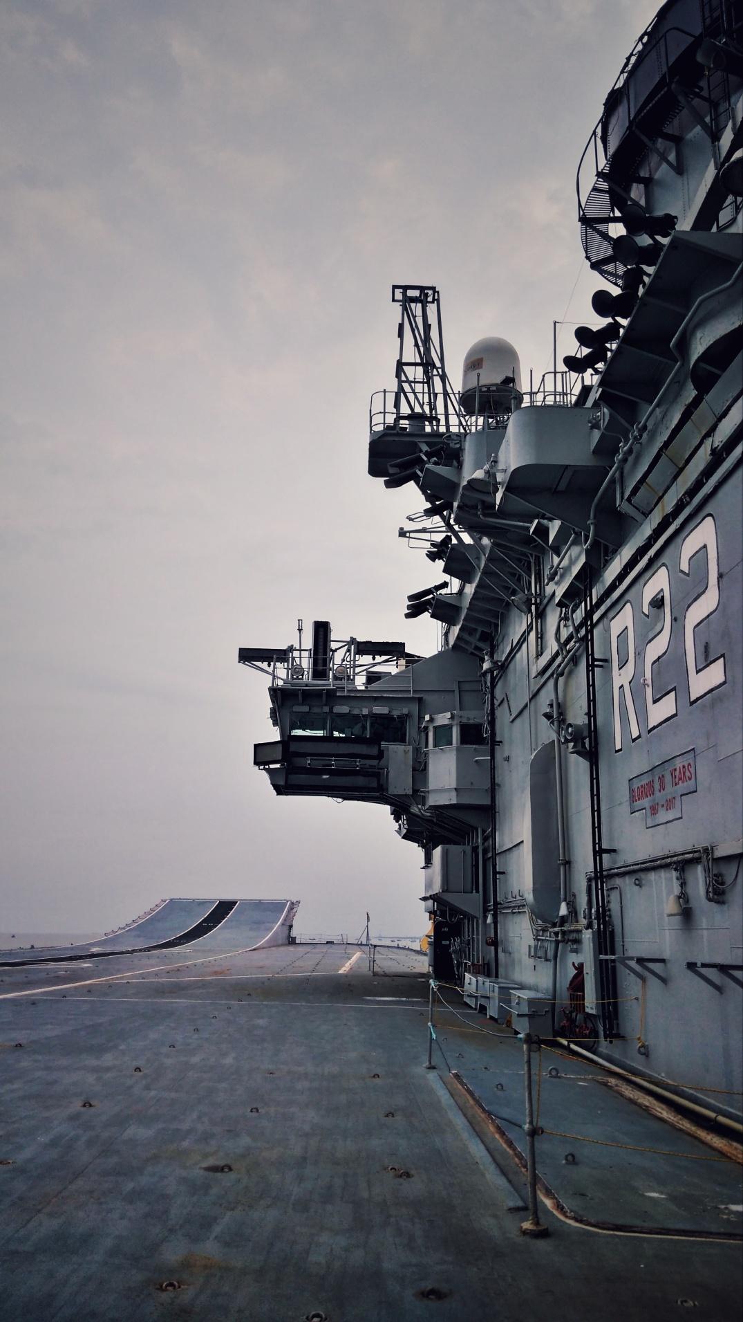 The flight deck of INS Viraat