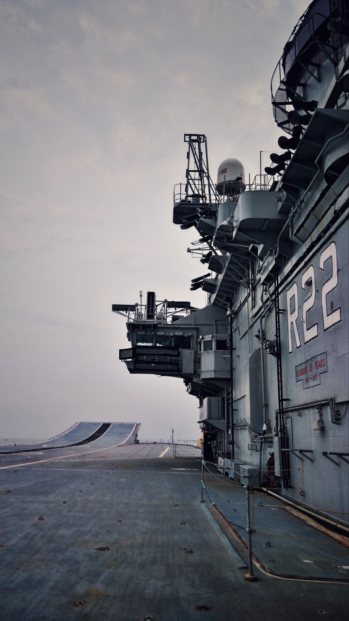 The flight deck of INS Viraat