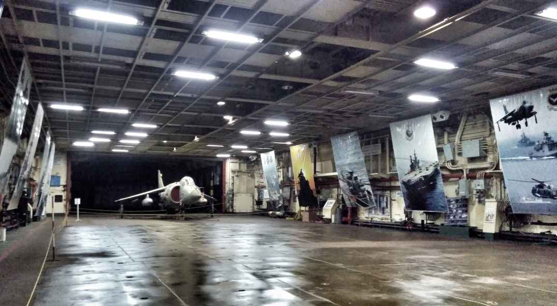 Sea Harrier inside INS Viraat