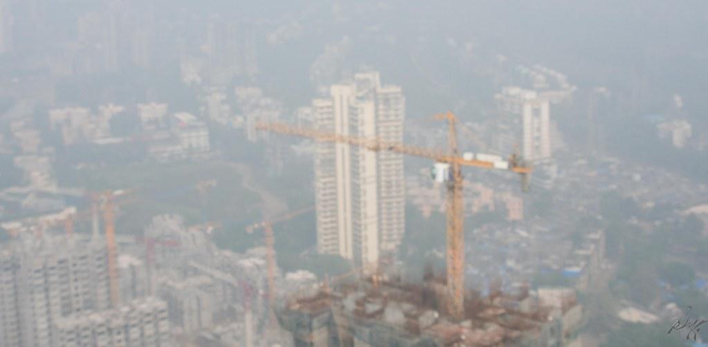 Hazy photo of a landscape