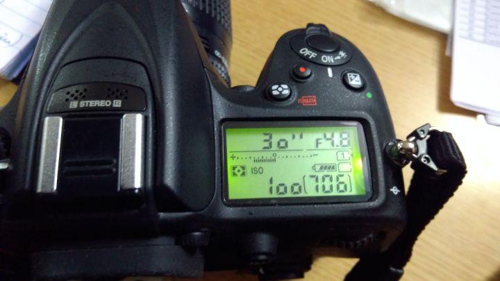 30 Second Exposure setting on Nikon D7200