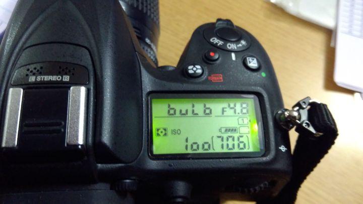 Bulb Setting on Nikon D7200