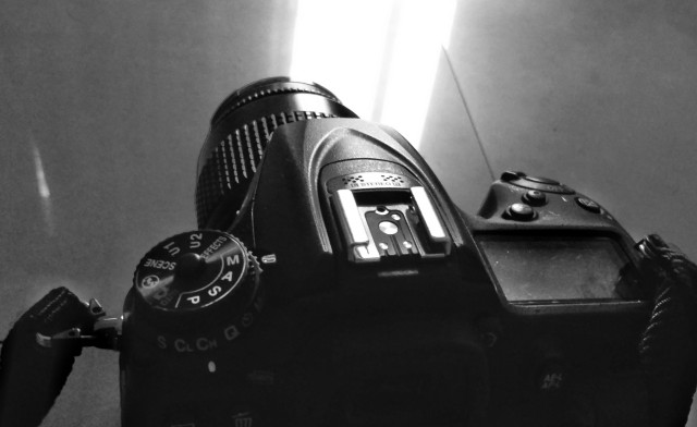Nikon D7200, Hot shoe, Black and White