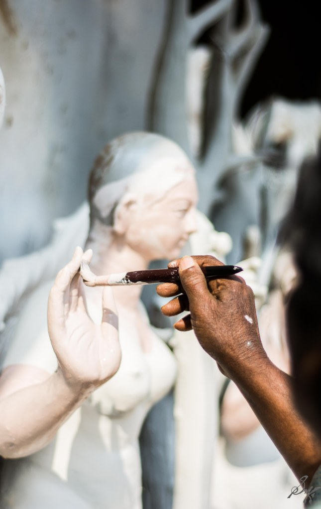 Saraswati Idol in progress