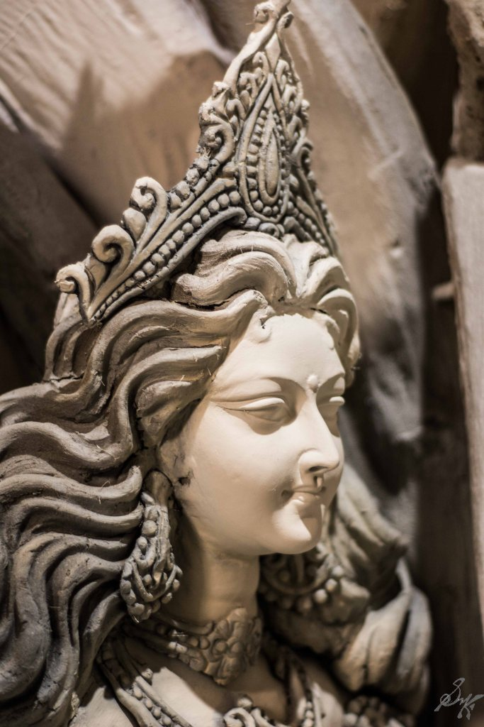 Face of a would be goddess, Saraswati