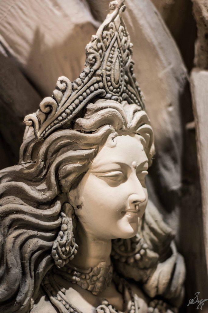Face of a would be goddess, Saraswati