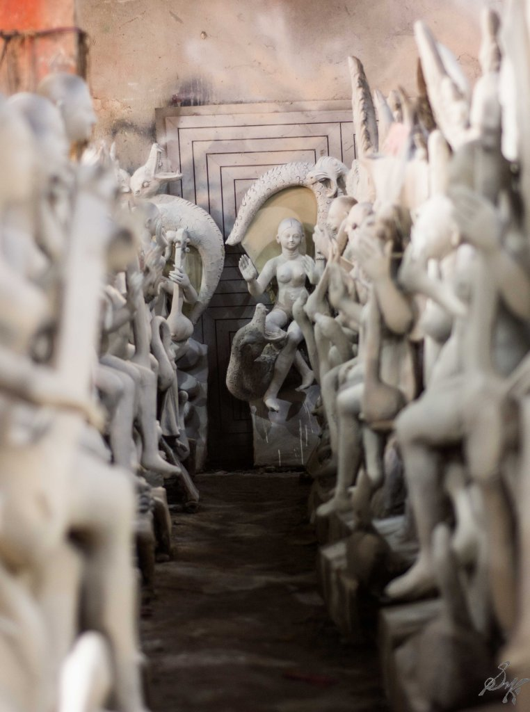 Rows of Saraswati Idols