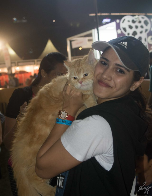 A friend with a cat