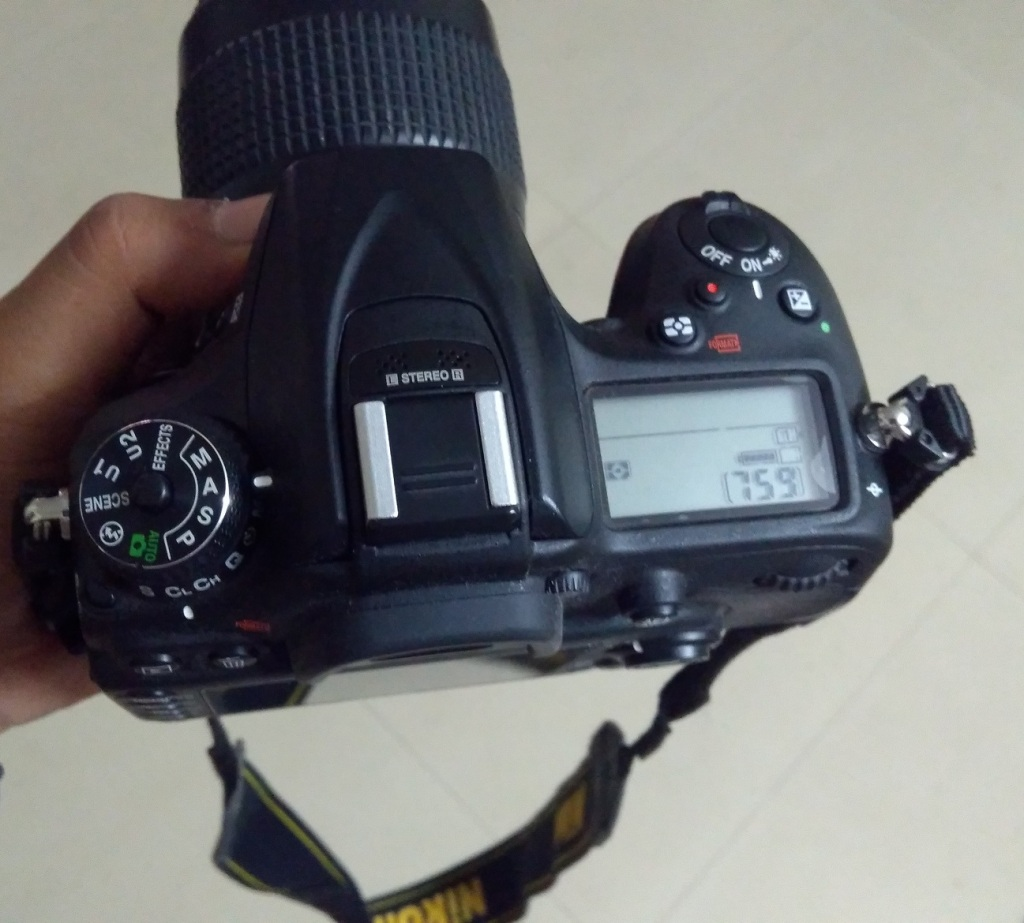Nikon D7200, Aperture Priority Mode setting