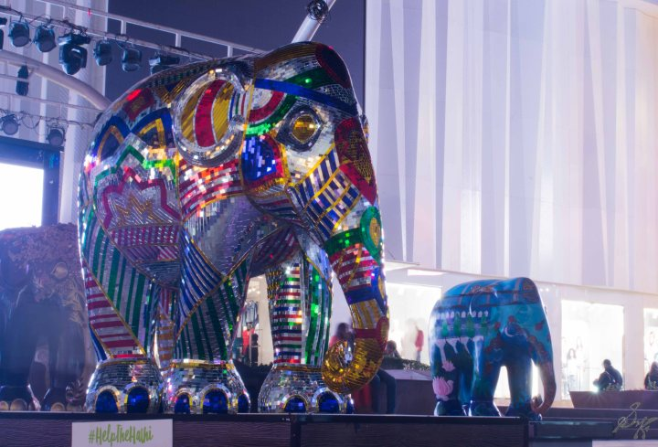 Iridescent Elephant from Elephant Parade, Mumbai