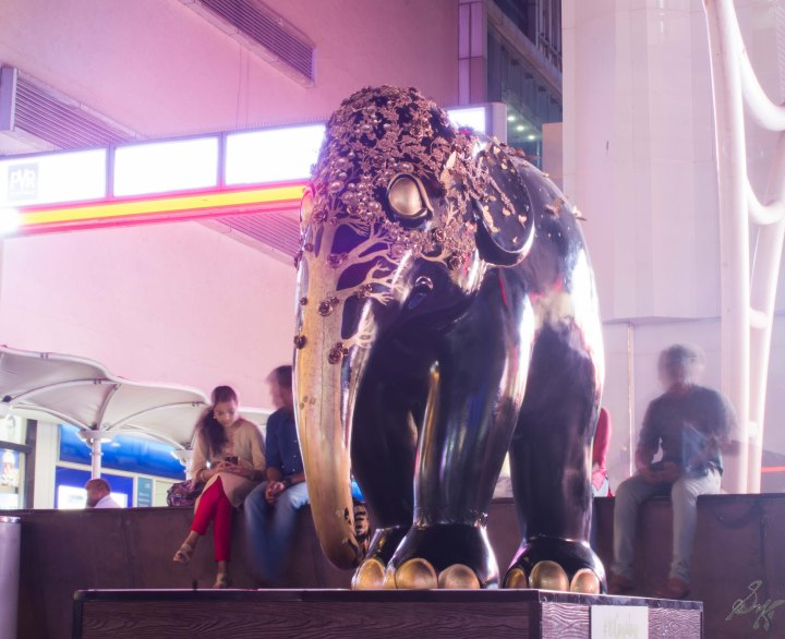 Black Elephant from Elephant Parade, Mumbai