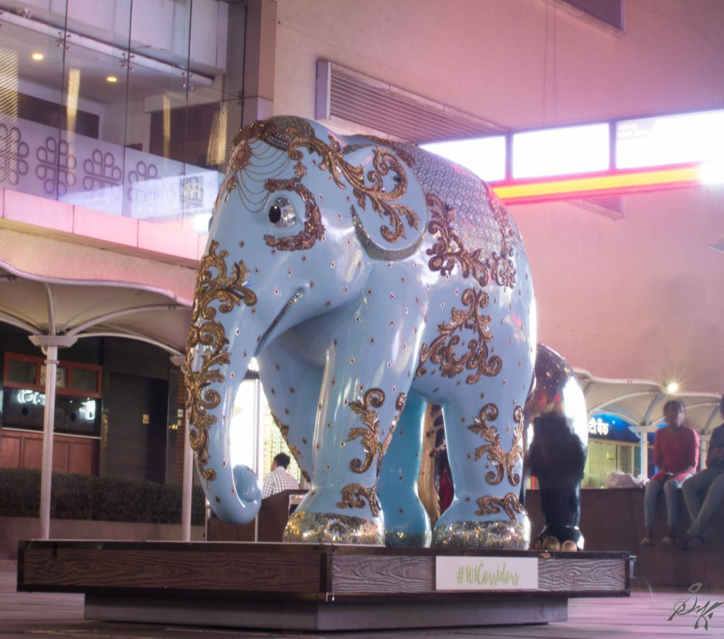Blue Elephant from Elephant Parade, Mumbai