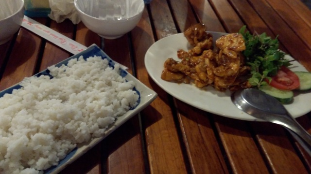 Sticky Rice and sauted chicken, Hoi An