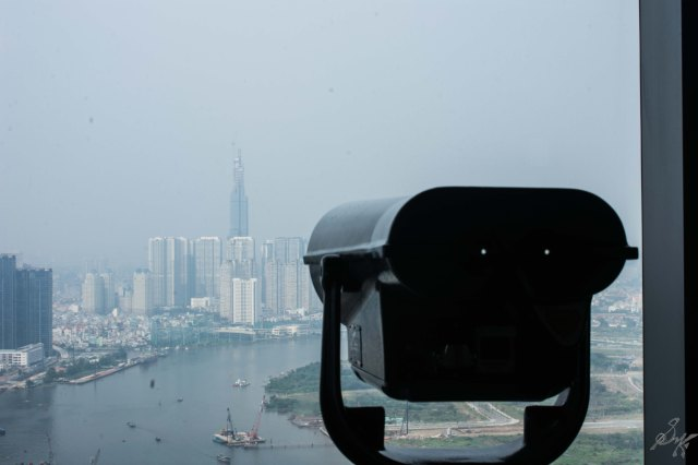 A binocular at the Bitexco Financial Tower, Saigon