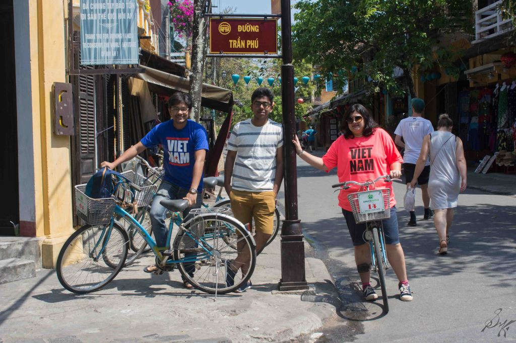 We travelled on bicycles, Hoi An