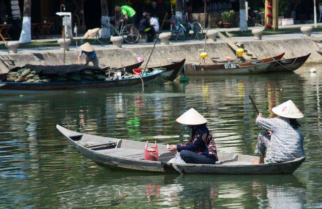 Boat on the Thu Bon river, Hoi An