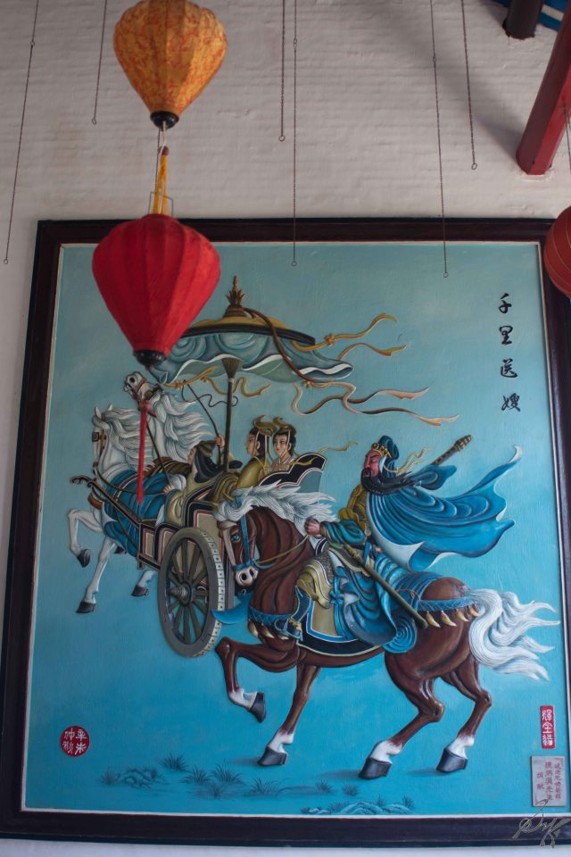 Murals at the Cantonese Assembly Hall, Hoi An