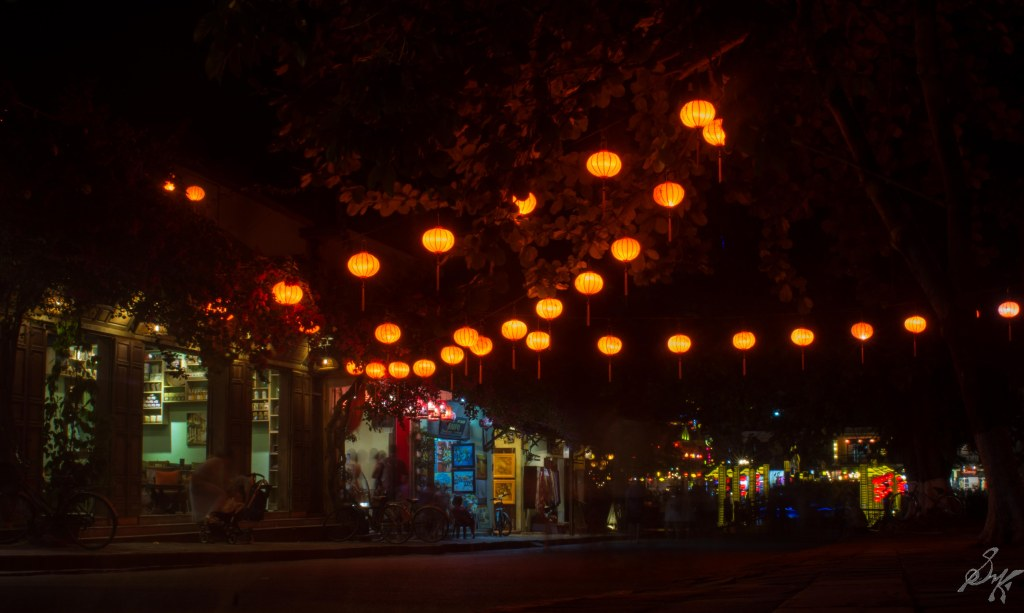 Street with colourful lights, Hoi An, Vietnam