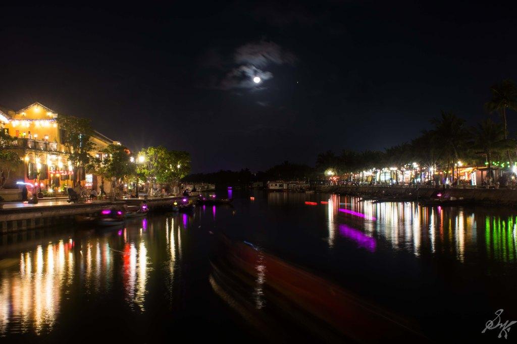 The Thu Bon river at night, Hoi An, Vietnam
