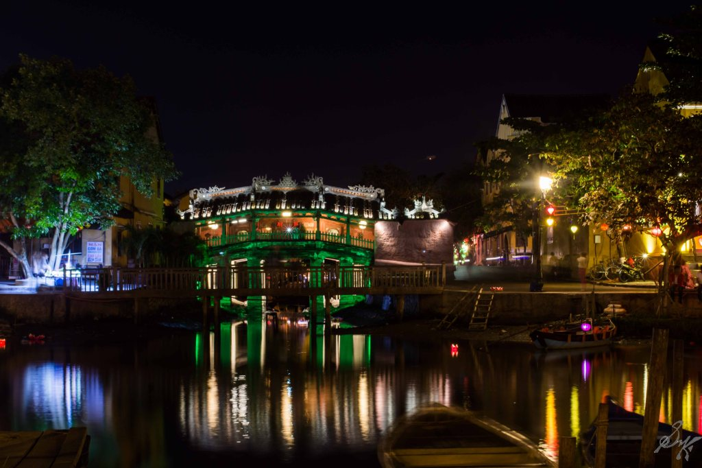The Japanese Covered Bridge at Night, Hoi An, Vietnam