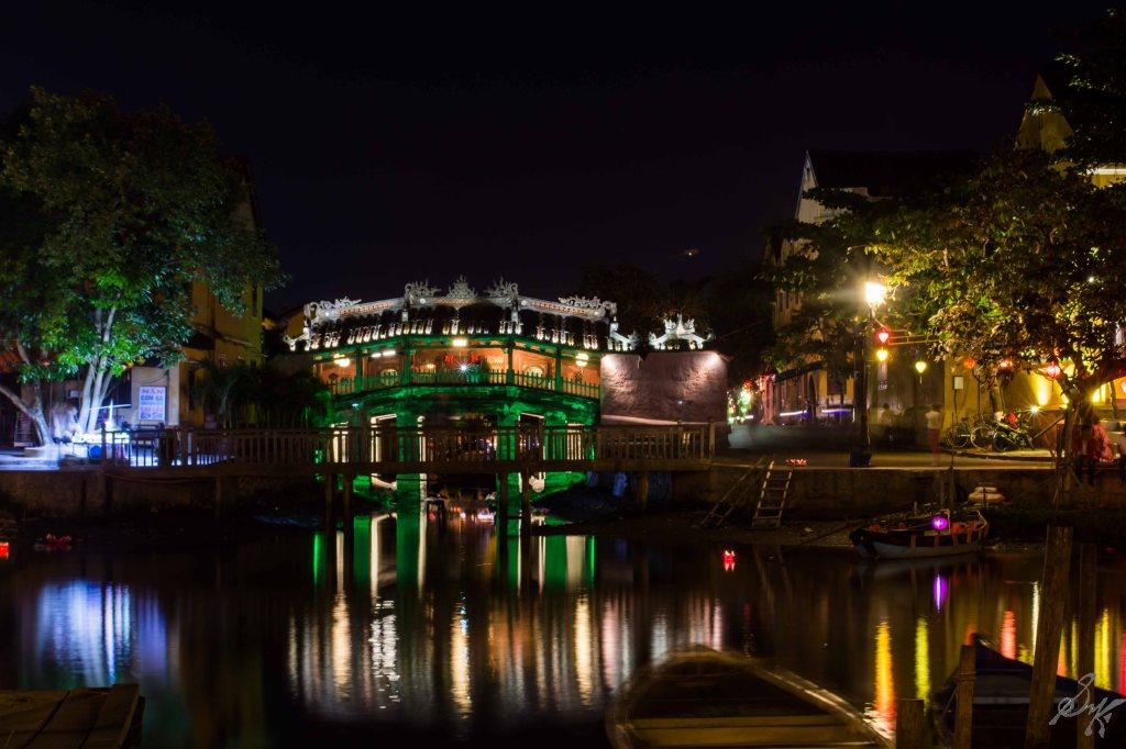 The Japanese Covered Bridge at Night, Hoi An, Vietnam