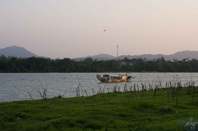 A boat on the Perfume river, Hue, Vietnam