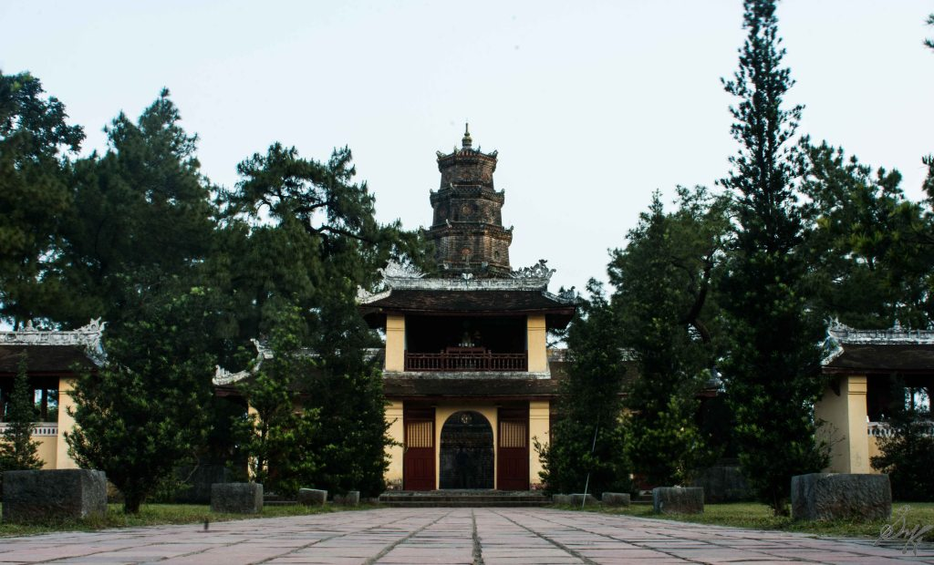 Gates of the Thien Mu Pagoda, Hue, Vietnam