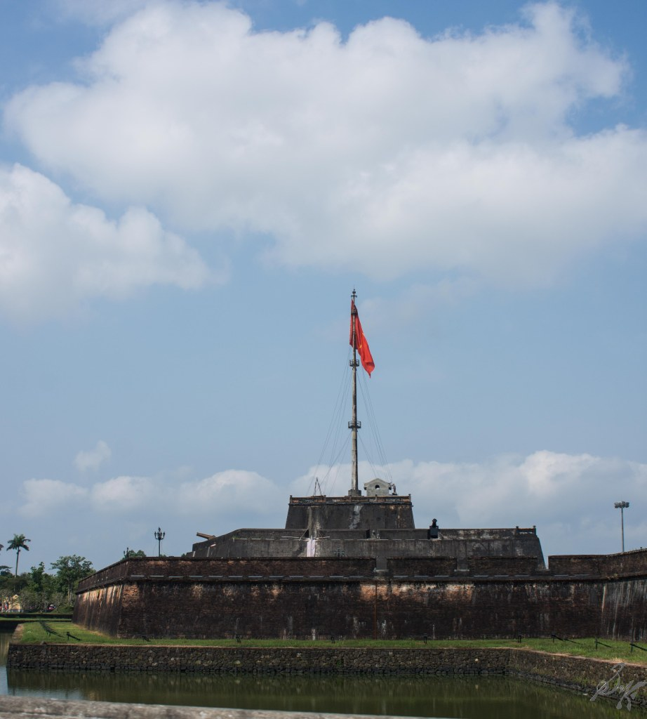 The flagpost at the Imperial Citadel, Hue, Vietnam