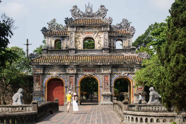 One of the many gates of the Imperial Citadel, Hue, Vietnam