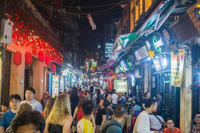 The food street, Hanoi, Vietnam